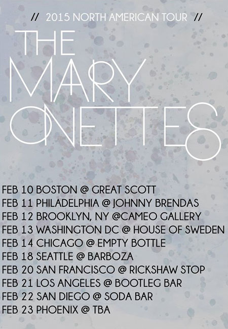 mary-onettes-tour